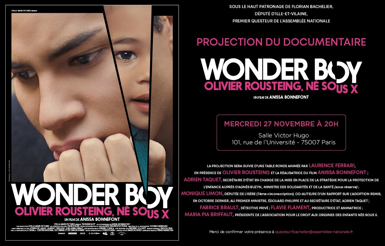 Documentaire Wonder Boy à l'Assemblée nationale